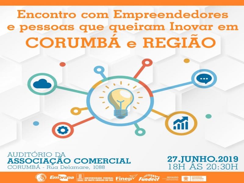 Convite: Fundect reúne empreendedores e pessoas que queiram inovar em Corumbá e região